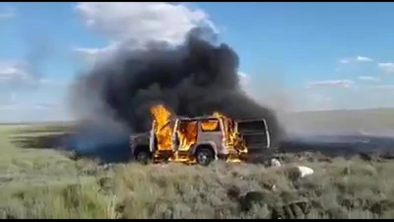 Браконьеры обстреляли и подожгли экипаж егерьской службы на территории ОПЗ Ақбөкен