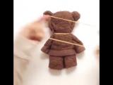 Как сделать игрушку Мишка из полотенца