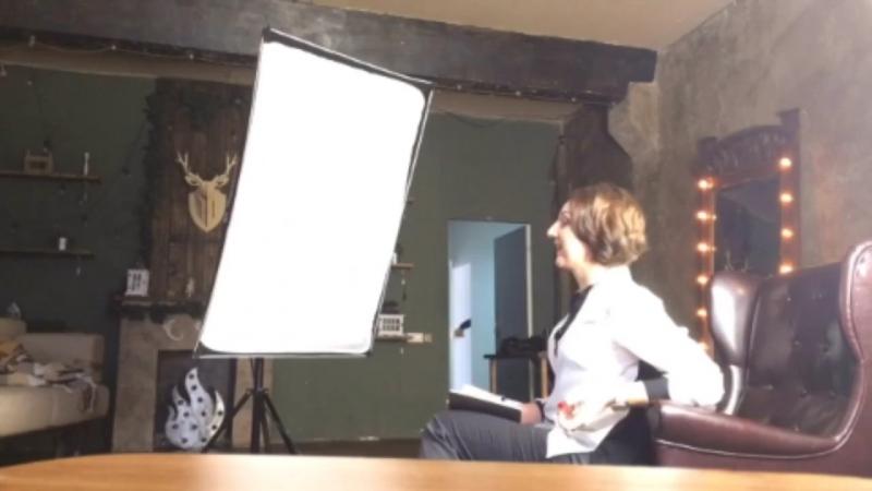 Съёмка бизнес портрета в фотостудии