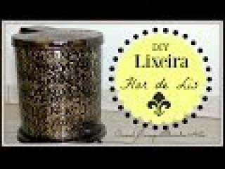 LIXEIRA FLOR DE LIS - Artesanato DIY com Falsa Latonagem - Compartilhando Arte