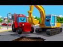 Czerwony Traktor i Koparka Tractor Fairy Tale for Kids Animacje Agricultural Machinery