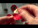 Маки из атласной лены 2.5 см МК Цветы Украшения для волос Канзаши