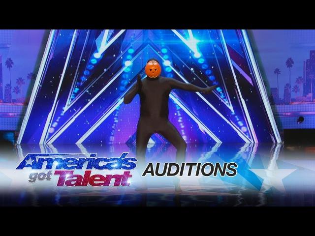 Dancing Pumpkin Man: Hilarious Dancer Slays on the AGT Stage - America's Got Talent 2017