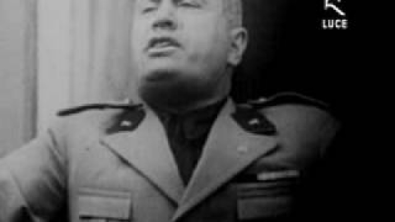 MUSSOLINI SPEECH-NAPOLI 1931