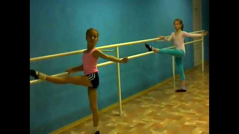 урок хореографии для фигуристов.- РАСТЯЖКИ.