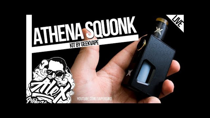 GeekVape Athena Squonk Kit l from l Alex VapersMD review 🚭🔞