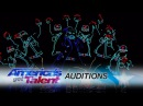 Light Balance: Dancers Light Up The Stage And Earn The Golden Buzzer - America's Got Talent 2017