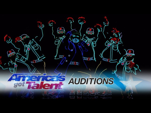 Light Balance Dancers Light Up The Stage And Earn The Golden Buzzer - Americas Got Talent 2017