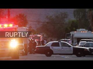 США: Сотрудники полиции 2 убиты, 1 ранен в Палм-Спрингс, Калифорния.