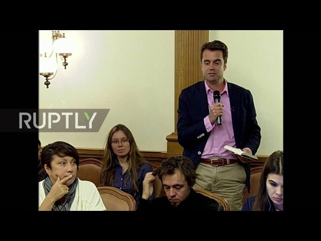 Россия: Захаровой вызовы Великобритании предоставил доказательства обвинений «России в военных» преступлениях.