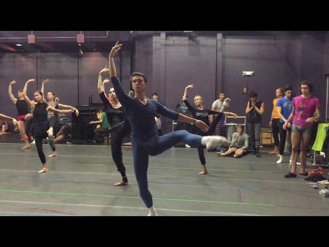 Mariinsky Ballet ... Class with Igor Petrov at SCFTA* JMT* October 11, 2017; Directed by Gina ARDANI