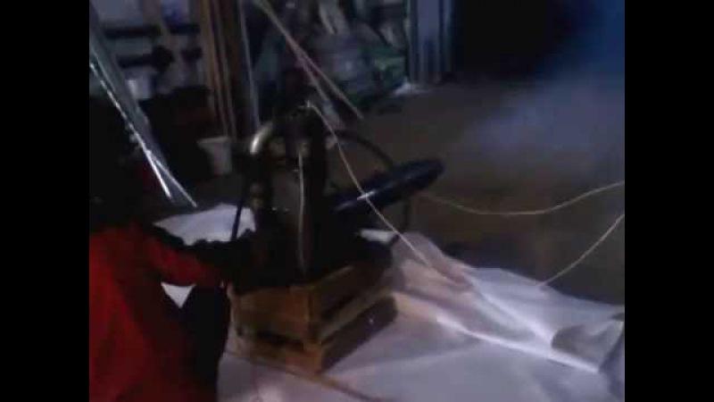 Реактивный двигатель из турбокомпрессора, попытка запуска форсажной камеры