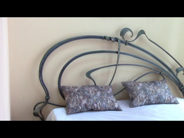 Кованая кровать 1800, ручная ковка. Коване ліжко 1800. Wrought iron bed 1800.