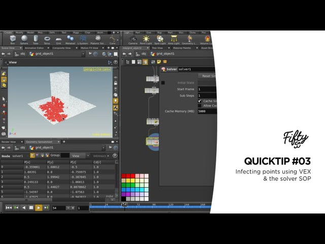 Houdini Quicktip03 - Infecting points using VEX the solver SOP