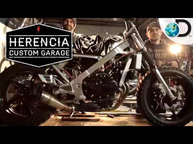 Instalación de monocasco en una Honda - Herencia Custom Garage l Discovery Channel