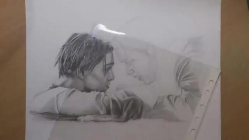 - Unleashed Art - - Portrait Drawing Titanic (Ending Scene)