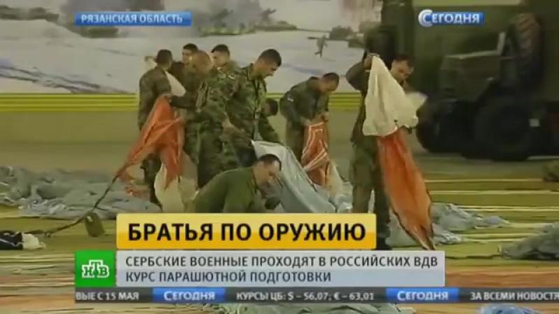 Братья по оружию׃ сербские военные проходят в российских ВДВ курс подготовки