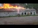 Пожар в бывшей воинской части