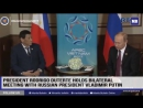 President Rodrigo Roa Duterte holds a bilateral meeting with Russian President Vladimir Putin at the Vinpearl Da Nang Resort and