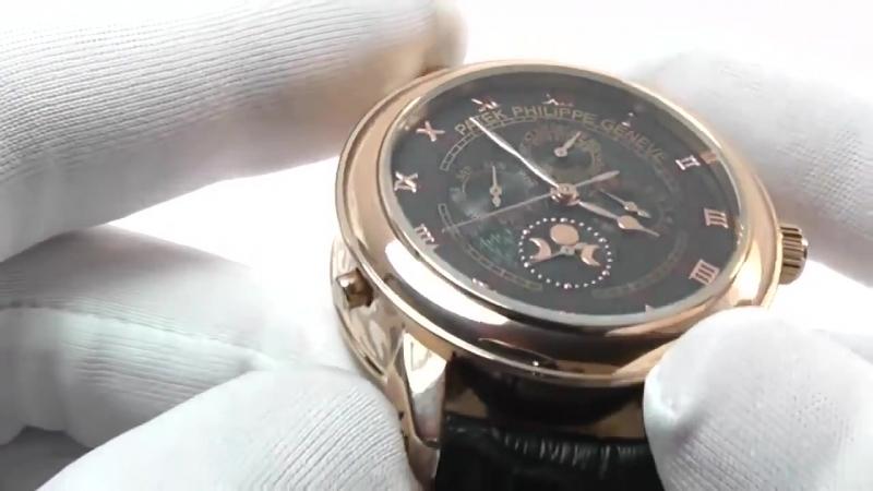 Стильные мужские наручные часы Patek Philippe Sky Moon Tourbillon