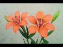 How To Make Wood Lily Paper Flower From Crepe Paper - Craft Tutorial
