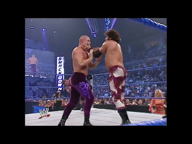 Charlie Haas Rico With Miss Jackie vs Basham Brothers Tag Team Titles Match SmackDown 04.29.2004