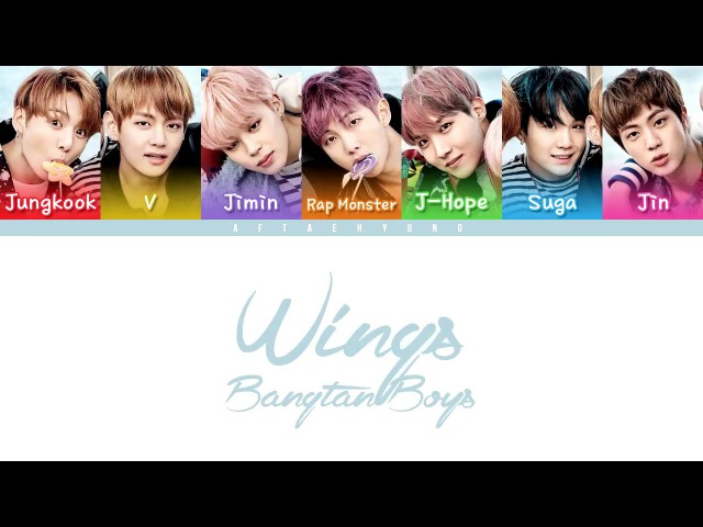 BTS (방탄소년단) - OUTRO : Wings (Color Coded Lyrics/Eng/Rom/Han)
