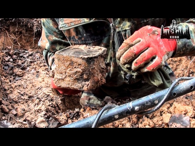 Раскопки немецкого блиндажа 1943 года \ Excavation of the German blindage | EE88
