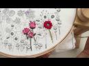 Flower Stem, Reverse Split Stitch, Hand Embroidery Tutorial