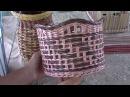 ▬► Газетное плетение. Комбинация верёвочки и ситцевого плетения.