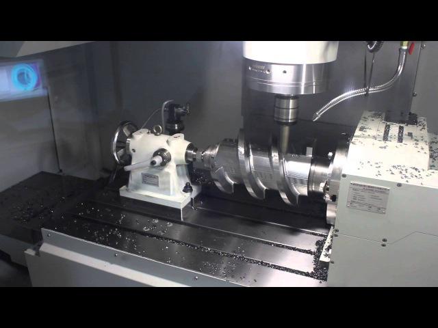 Изготовление силовых шнеков на 4-х осевом фрезерном станке с ЧПУ