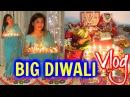 BIG Diwali Vlog 2016 Laxmi Pooja, Cooking & Rangoli  | SuperPrincessjo