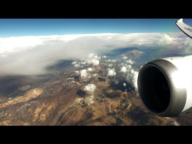 LAN Boeing 787-9 Dreamliner - over the Andes, Cote D'Azur and Alps - from Santiago to Milano