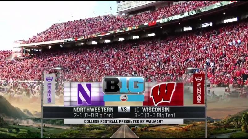 NCAAF 2017 Week 05 Northwestern Wildcats 10 Wisconsin Badgers 1Н 30 09 2017 EN