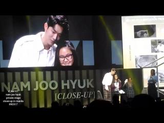 Nam joo hyuk private stage (close-up) in manila 092317 - lucky fan