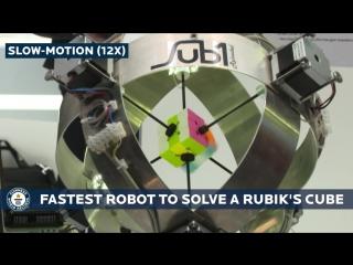 Робот побил мировой рекорд по сборке кубика Рубика за 0.637 секунды