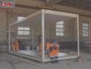 Производство блок-контейнера, металлической бытовки, семь часов за пять минут
