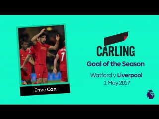 Carling Goal of the Season winner • Emre Can