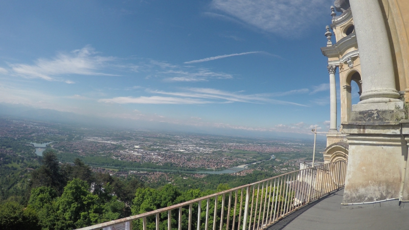Torino city view. Superga