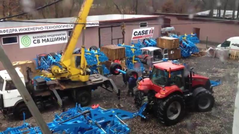 Сборка комбинированной почвообрабатывающей машины Rubin 12