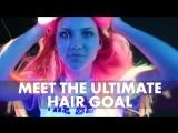 Neon glowing hair