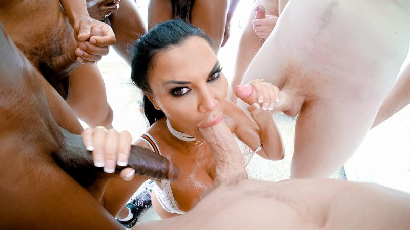 Jasmine Jae HD 1080, Group Sex, Big Tits, Deep Throat, Gonzo, Big Ass, Brunette, MILF, Porn
