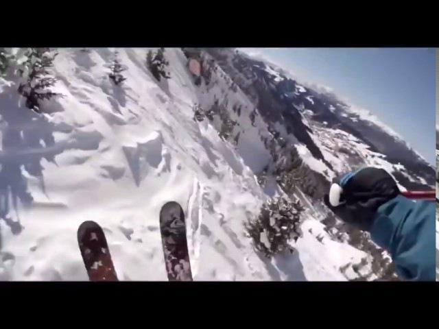 Потрясающий спуск с горы на лыжах от первого лица Candide Thovex (DubStep Edition) 1