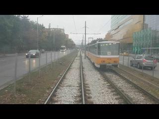 Sofia tram line 20 with tram model- Tatra T6B5 1435mm | Трамвай София линия 20