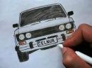 ❤️ Как нарисовать машину ВАЗ 2106 поэтапно❤️ Ehedov Elnur ❤️ VAZ 2106 nece cekilir ❤️