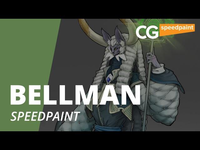 Speed Painting. Bellman. Рисуем концепт арт. CG Speedpaint.