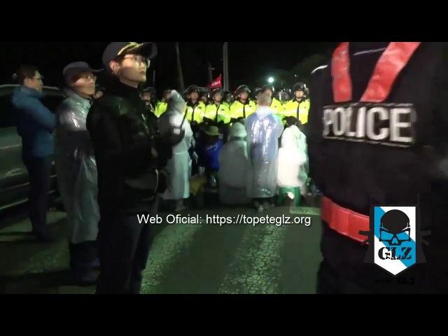 Corea del Sur - Manifestantes protestan al grito de YANKIS GO HOME contra el THAAD