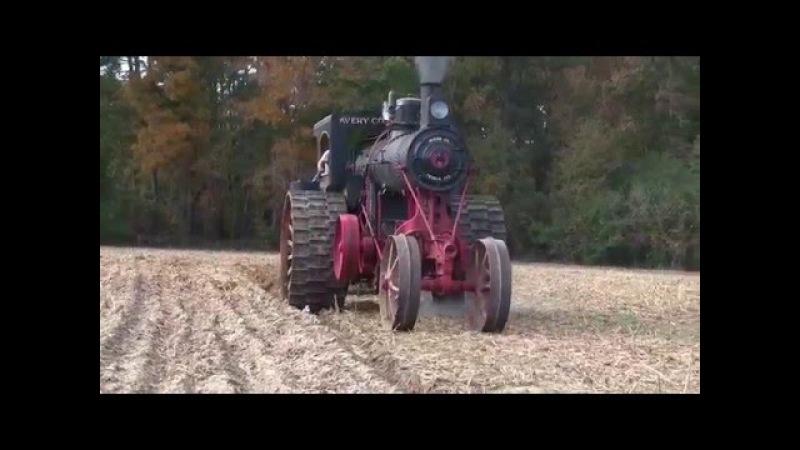 Мощные паровые трактора. Как пахали землю в 19 веке