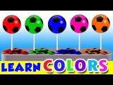 Colors for Children Learn with Soccer Ball Lollipop Balloons Popping Colors Kids Toddlers Videos