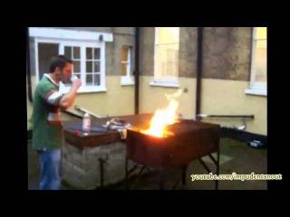 Невезучие трюки с огнём подборка 2015 год!